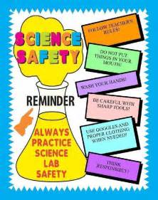 Make a science fair project about science safety lab safety poster