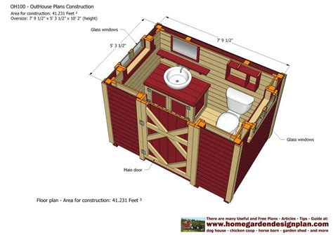 cabana construction plans pictures to pin on pinterest outhouse plans oh100 out house plans construction