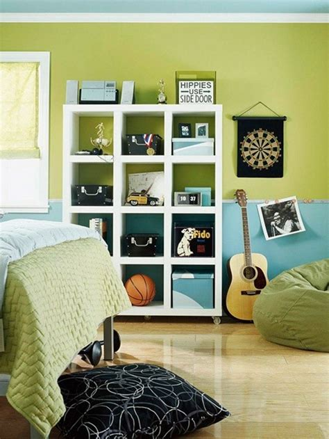 blue and green boys bedroom bhg centsational style