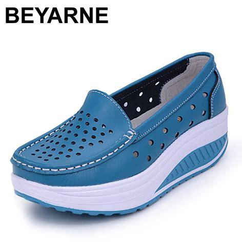 Genuine Leather Platform Shoes shoes summer white genuine leather platform plus