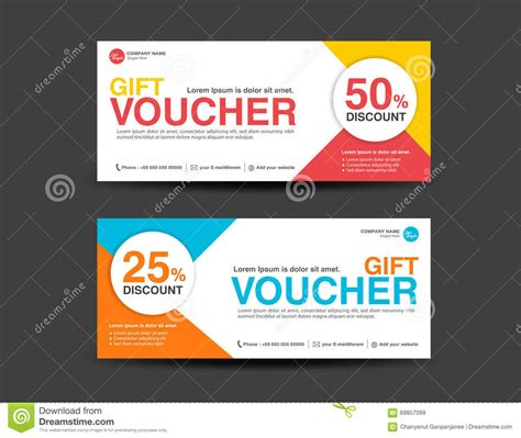 Voucher Promo discount voucher template coupon design ticket banner template stock vector illustration of