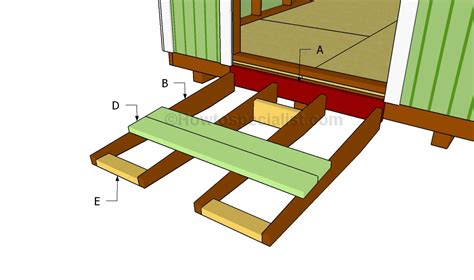 build  shed ramp howtospecialist   build