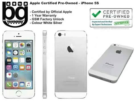 Iphone 5s Certified Pre Owned Jual Apple Certified Pre Owned Iphone 5s 64gb White Silver Cod Bamdung Bargaz Gadget