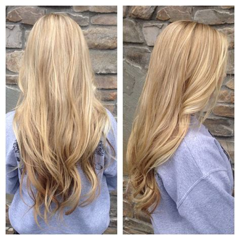 low light hair foiling placements long blonde partial foil with low light my work at stan