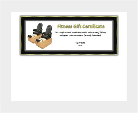 44 Free Printable Gift Certificate Templates For Word Pdf Fitness Gift Certificate Template