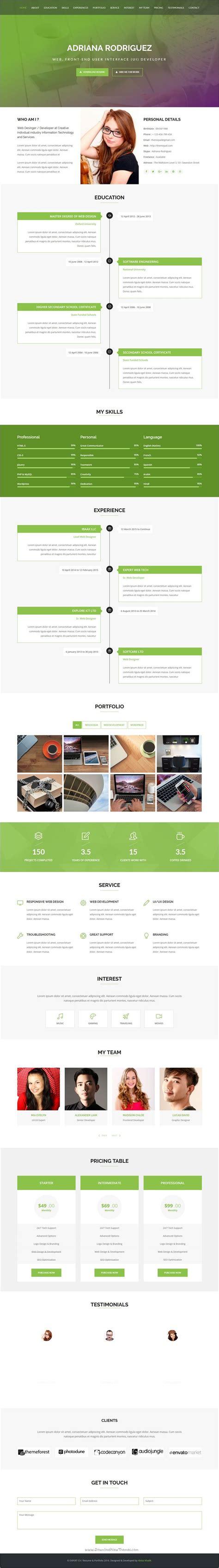 Online Portfolio Resume by Best 20 Online Cv Ideas On Pinterest Online Cv Template