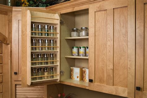 Wooden Spice Cabinet With Doors Cabinet Door Spice Rack Wood Roselawnlutheran