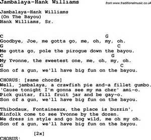 hank williams iii i m a lyrics summer c song jambalaya hank williams with lyrics and chords for ukulele guitar banjo etc