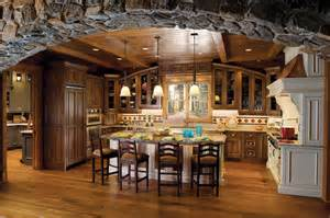 amazing stone arch custom kitchen