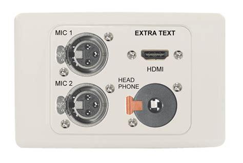 Xlr Wall Plate custom xlr mic wall plate