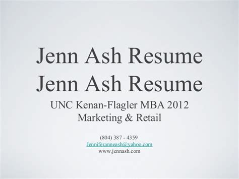 Kenan Flagler Mba Marketing by Mba Retail Marketing Resume