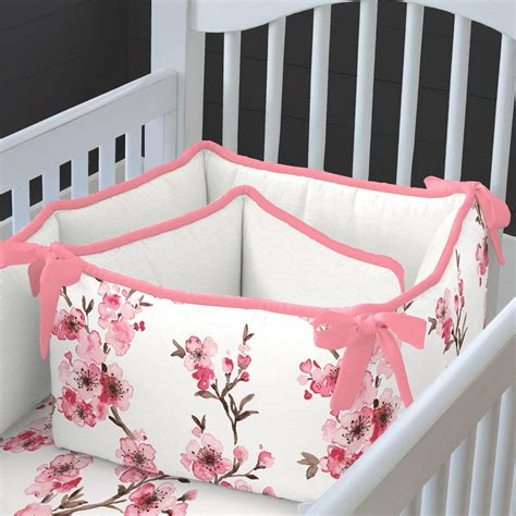 Cribcot Bumper Set Pink Blossom New cherry blossom crib bedding carousel designs