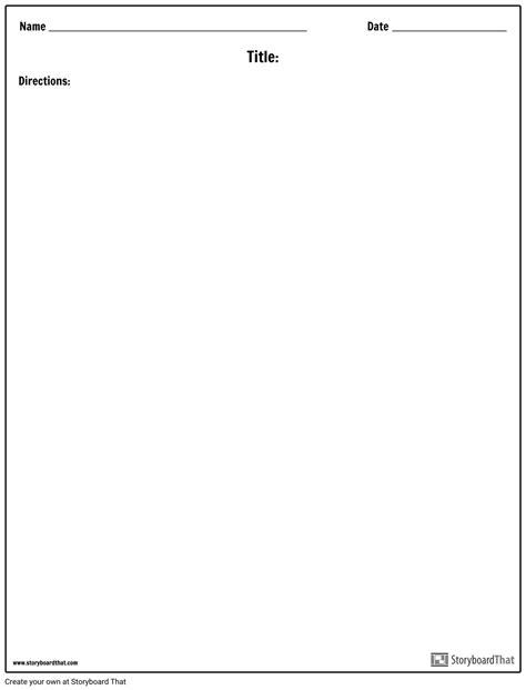 Blank Template Blank Worksheet Templates Worksheet Maker