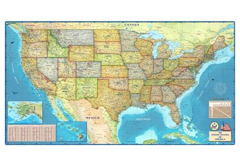 map of usa states to buy political usa wall map usa and us states wall maps