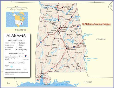 map alabama alabama map free large images