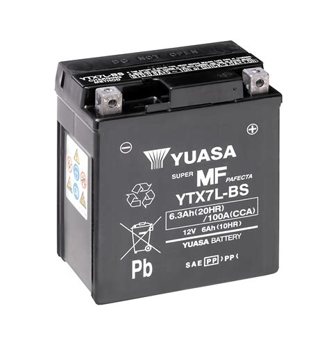 Batterie Moto 12v 6315 by Yuasa Motorcycle Battery Ytx7l Bs 12v 6a From County Battery
