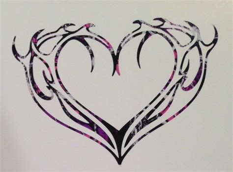camo flame tattoo details about flame antler heart vinyl car truck decal 5