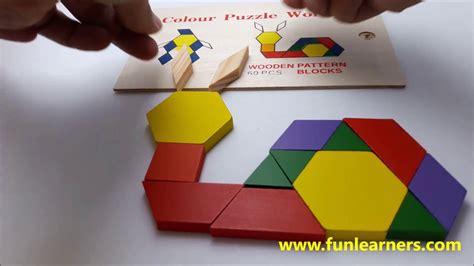 pattern blocks youtube wooden pattern block 60 pcs youtube