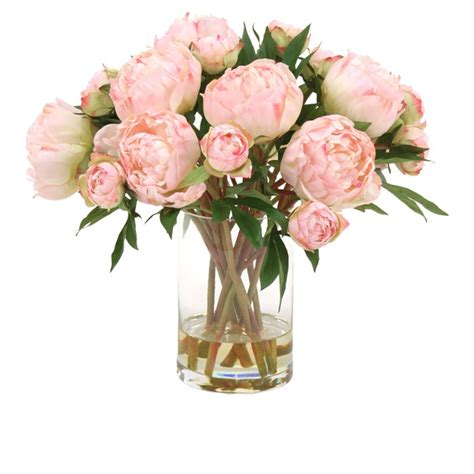 peony floral arrangement faux peony arrangement house style pinterest