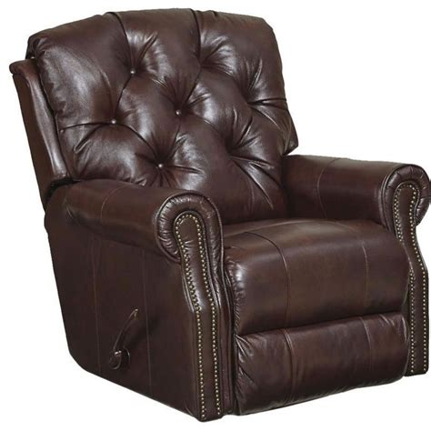 catnapper power recliners catnapper davidson leather power rocker recliner in