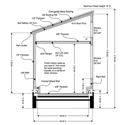 roof design plans kehed shed porch roof construction