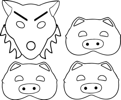 wolf mask coloring page 3 little pigs and wolf mask coloring page wecoloringpage