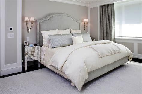 monochromatic bedroom gray bedroom transitional bedroom grade architecture