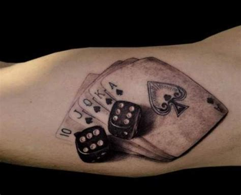 tattoo designs cards and dice 19 cool dice tattoos