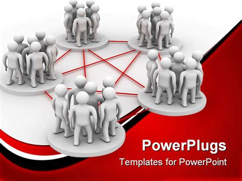 powerpoint template conceptual design of teamwork to