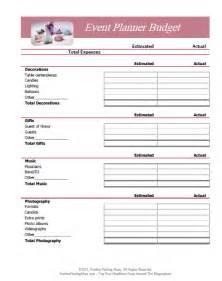 event planning organizer template free printable budget worksheets or print