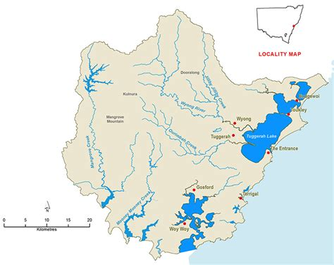 map of nsw central coast central coast unregulated water sources nsw office of water