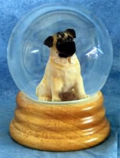 pug snow globe pugs dogbreed gifts miscellaneous pug gifts