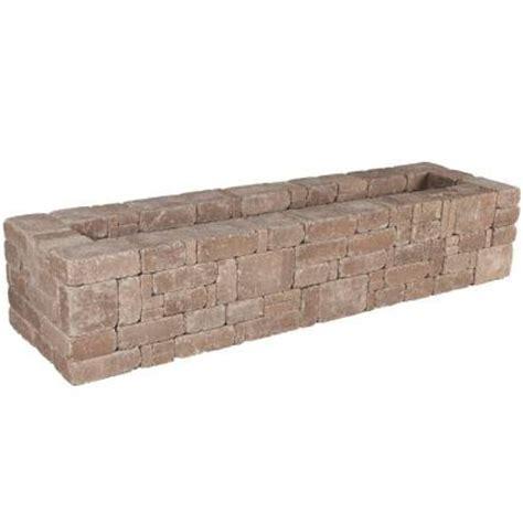 bench kits home depot pavestone rumblestone 72 in x 17 5 in rumblestone bench