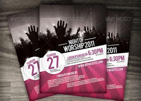 night  worship church flyer template inspiks market