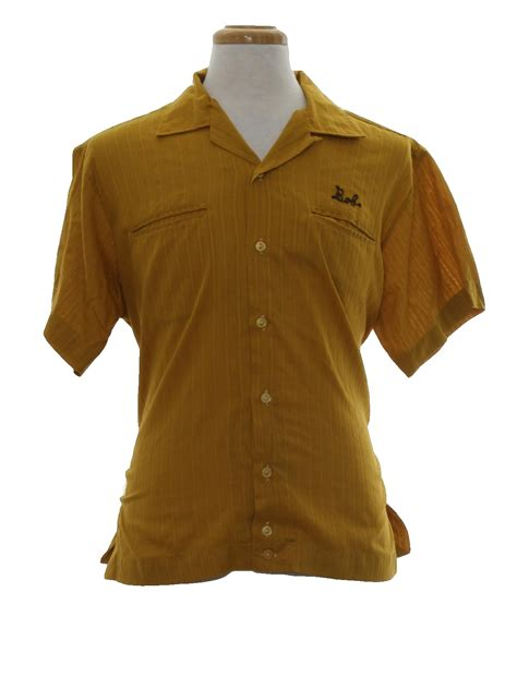 pattern bowling shirt 1960s imperial bowling shirt late 60s or early 70s