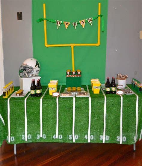 football themed decorating ideas football birthday bright spot birthday ideas