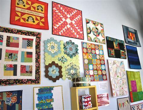 pattern wall display atlanta modern quilt guild display whipstitch