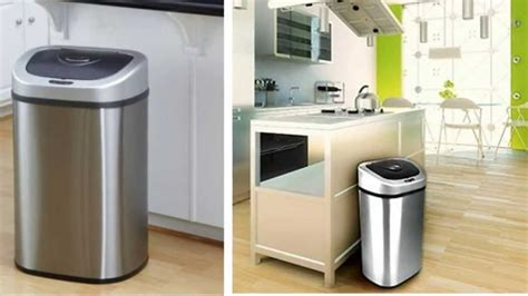 touchless kitchen trash can automatic sensor trash can touchless motion garbage set of 2 lid kitchen new ebay