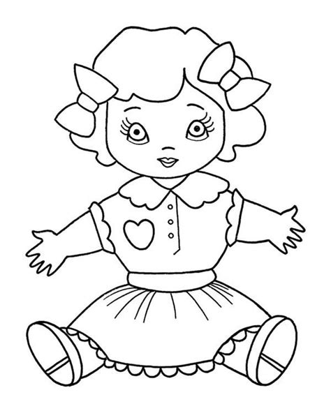 coloring doll doll coloring pages