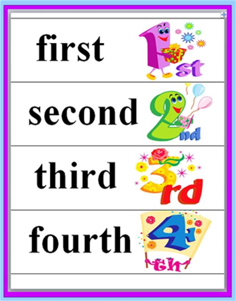 free printable ordinal number cards classroom freebies ordinal words and numbers freebie