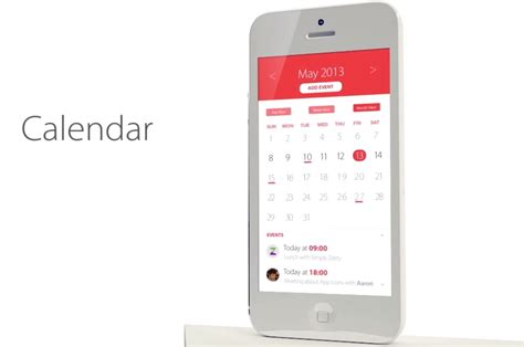 calendar layout ios jony ive s new look for ios 7 black white and flat all