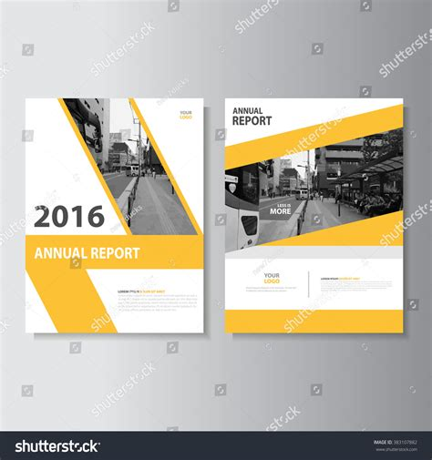 book layout design software free yellow annual report leaflet brochure flyer stock vector