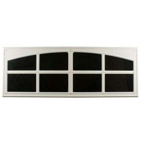 home depot garage door decorative hardware crown metalworks white decorative faux window 2 per pack 10038 the home depot