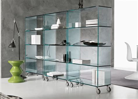 Single Kitchen Cabinet by Tonelli Libreria Glass Shelving Unit Tonelli Design
