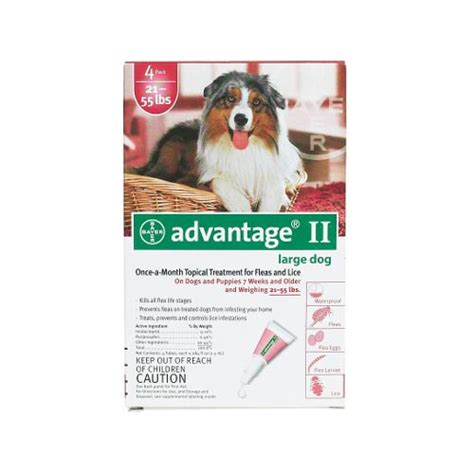 advantage for dogs 55 lbs advantage flea for dogs and puppies 21 55 lbs 4 month supply 55 4