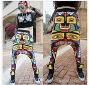 New 3D SWAG Print Joggers Hip Hop Harem Pants Drop Crotch