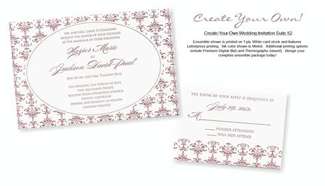 design your own wedding invitation create your own wedding invitation suite 52