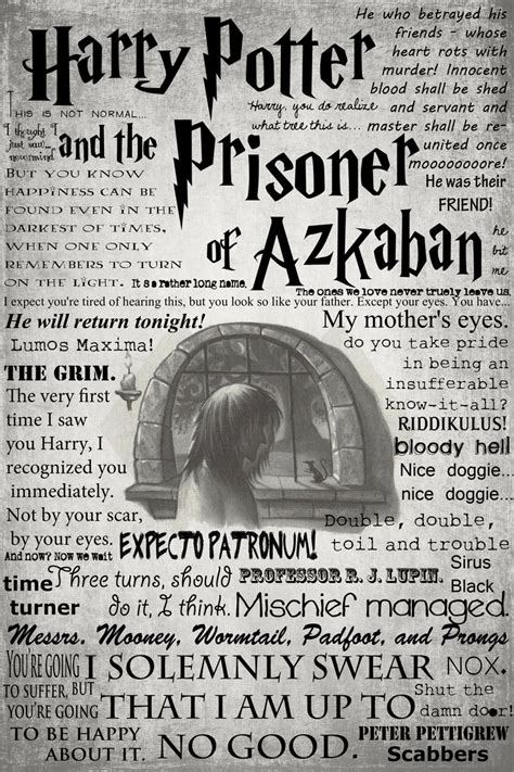 the prisoner a novel books harry potter and the prisoner of azkaban memorable quotes