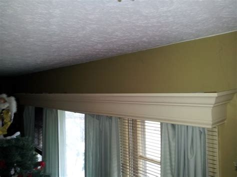 Custom Cornice Box Window Wood Valances Handmade Wood Window Valance By
