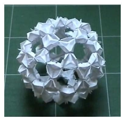 origami buckyball 171 mr honner